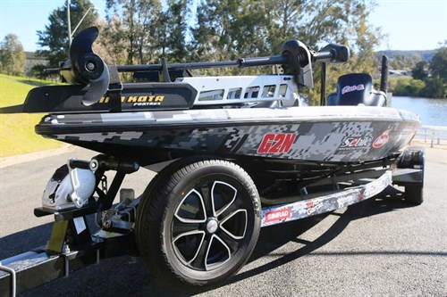 Phoenix 721 ProXP bass boat on trailer