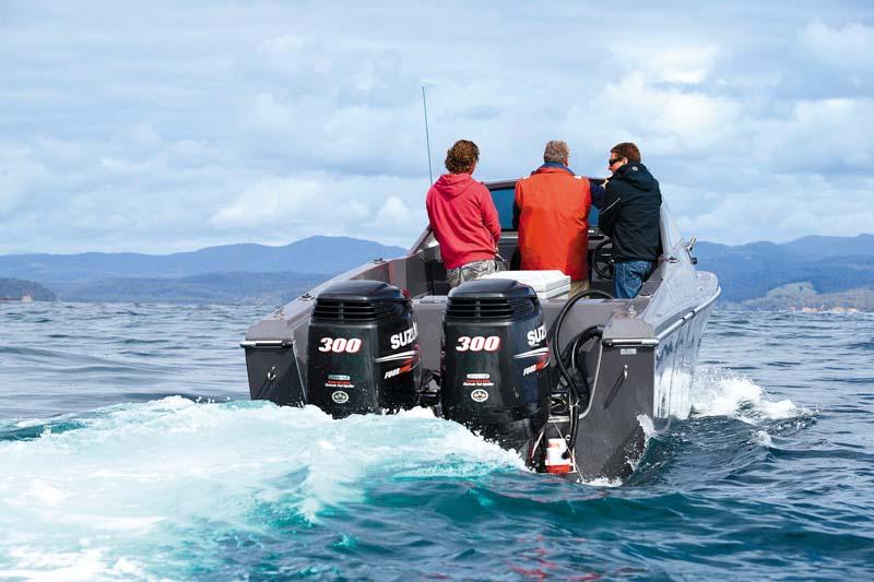 Twin 300hp Suzuki outboard motors