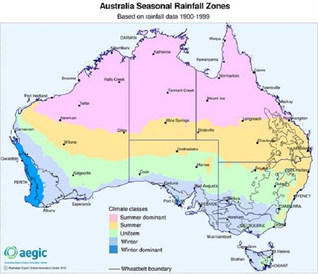 Aust _seasonalrainfallzones _1900_1999