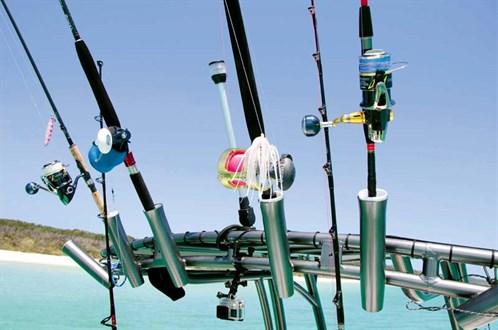 Rocket launchers on Sea Fox 220 Viper T-top