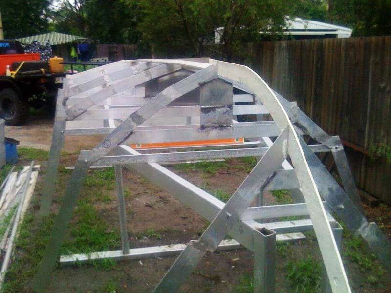 DIY boat build alloy hull structure