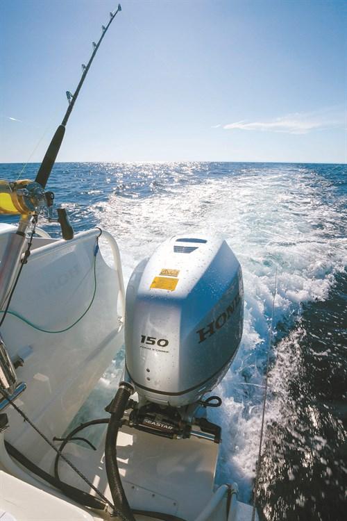 Honda BF150 outboard on Sailfish powercat