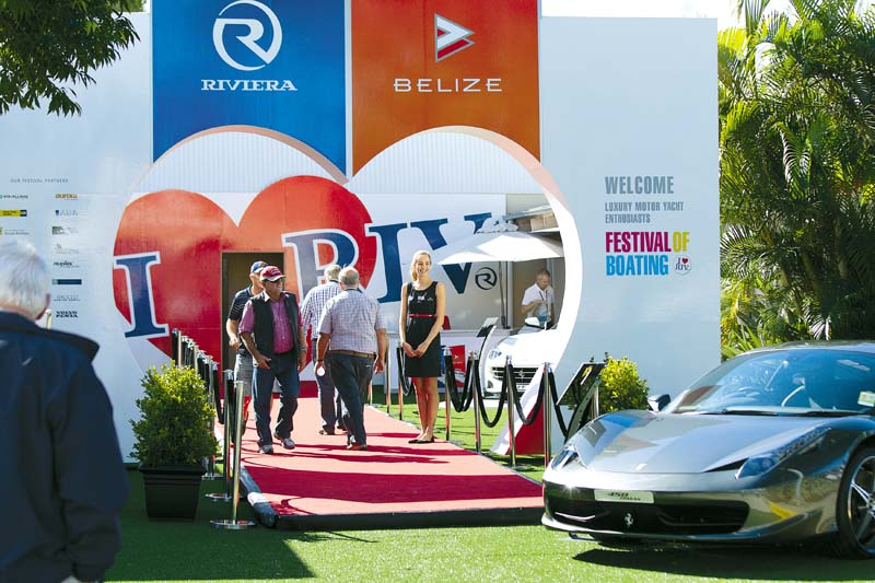Entrance to Riviera Festival Of Boating.