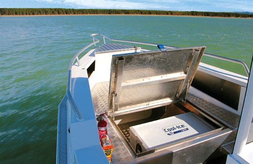 Forward storage on Osprey 600 Centre Console