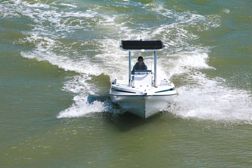 Seaforce 530 Skipa pontoon fibreglass boat