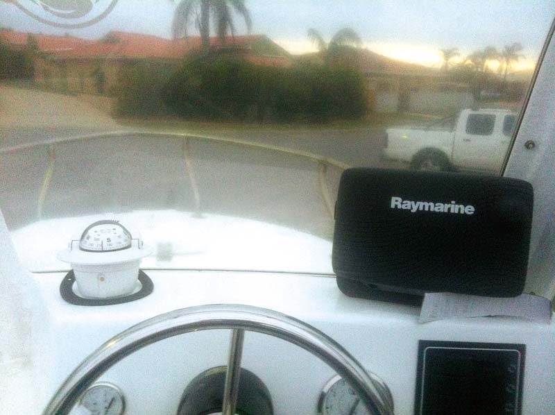 Raymarine E7D marine electronics unit  with satellite TV