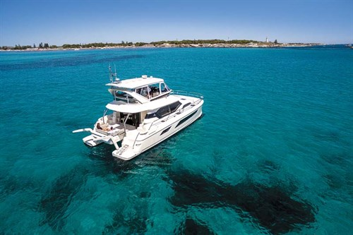 Aquila 44 power catamaran on the water