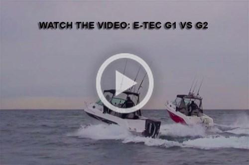 Video 200hp E-TEC G1 vs G2 outboard motors comparison