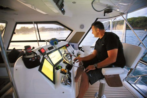 Marine electronics on Caribbean 49