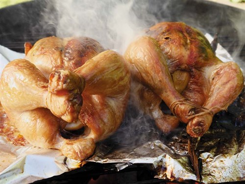 Weber -roast -chicken
