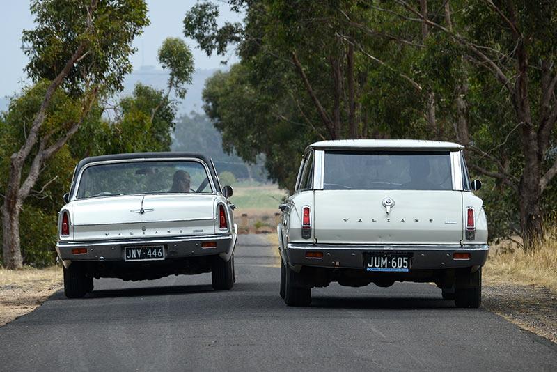 Valiant -VC-Sedan -Wagon -onroad .-rear