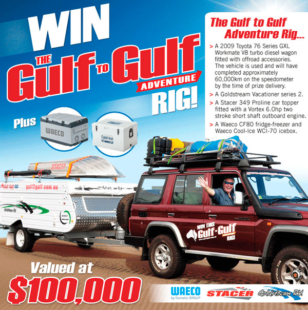 Win the Gulf to Gulf Aadventure Rig