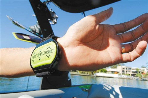 Wedge Surf Speed wrist attachment for Malibu wakeboat
