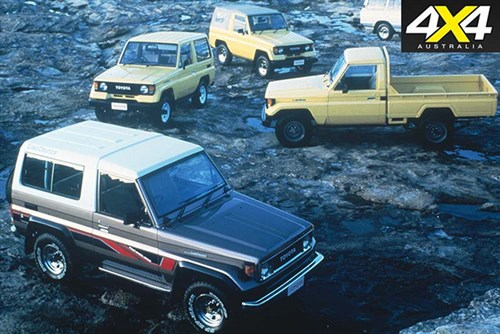 Collection of classic Toyota Landrcuiser 70 Series cars