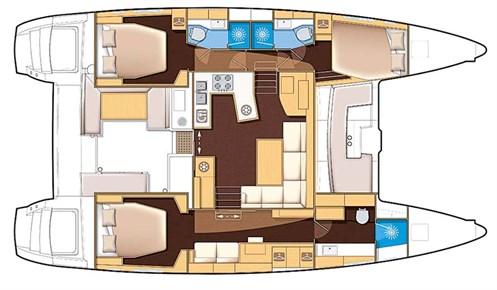 Lagoon 450 Sport deck plan layout