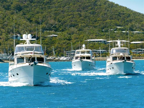 Fleming Yachts on the water