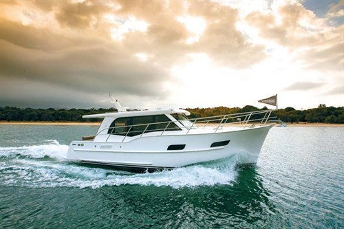 Integrity Motor Yacht on the water
