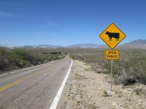 Open Range Sign