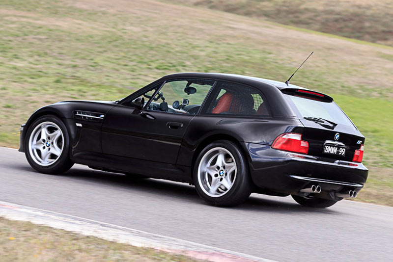 BMW-Z3-M-Coupe -ontrack -rear