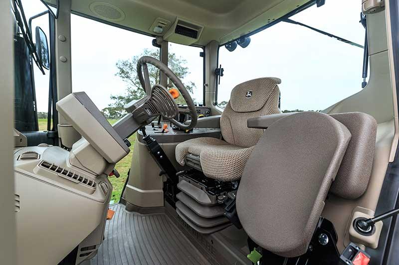 Cabin of John Deere 6105M tractor