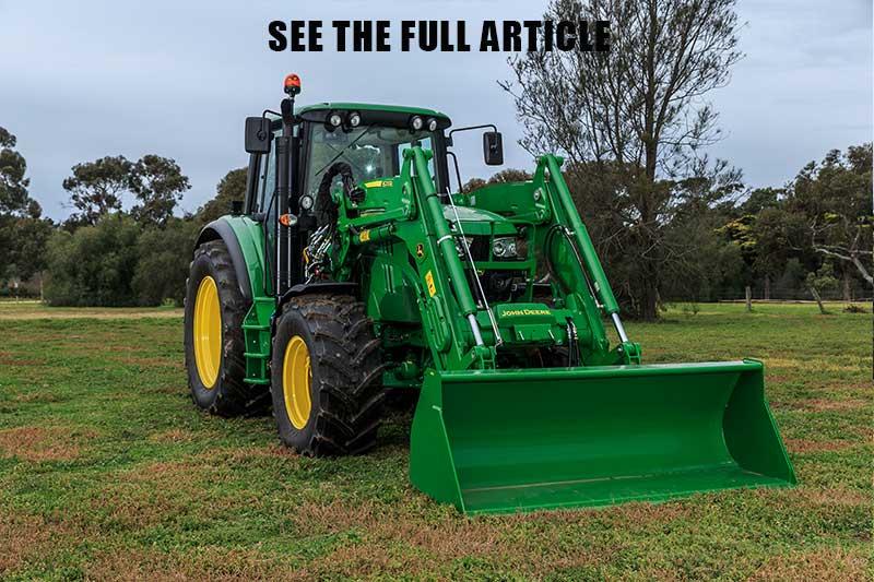 John Deere 6105M tractor