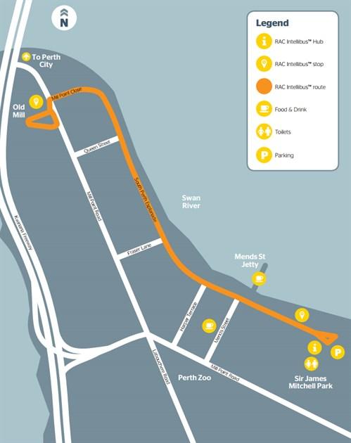 Perth Autobus Map