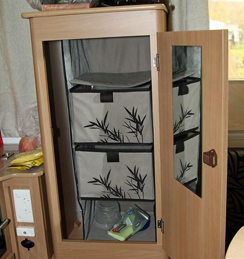 clever caravan storage ideas