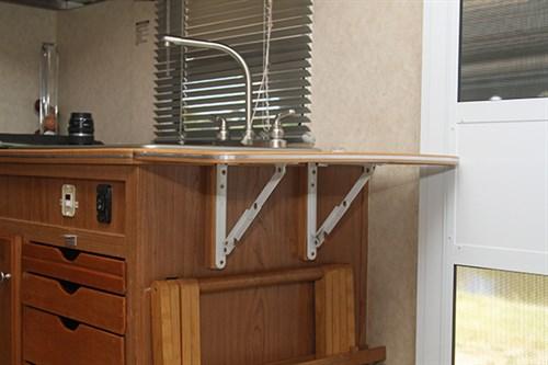 Caravan Storage Instant Benchspace & Clever caravan storage ideas