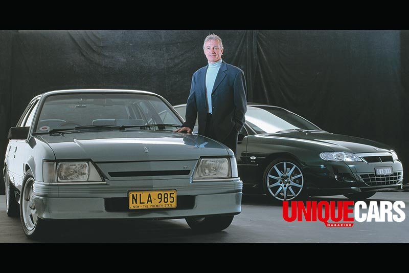 Peter -Brock -with -VK-Commodore -logo