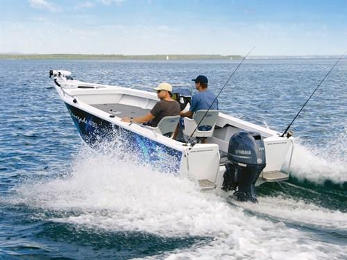 Yamaha F70LA outboard motor on Stessco tinnie