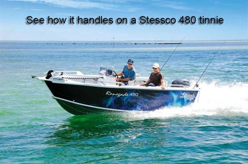 Yamaha F70LA outboard motor on a Stessco tinnie