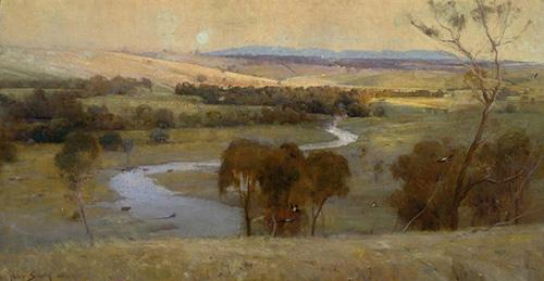 Arthur Streeton Heidelberg painting