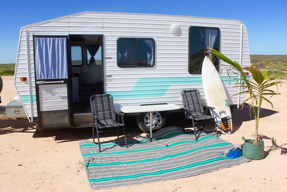 Exmouth -beach -caravan