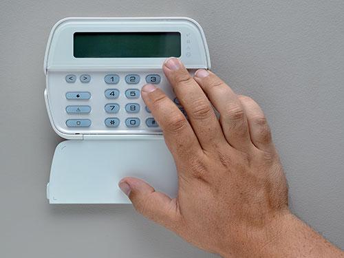 Alarm system keyboard