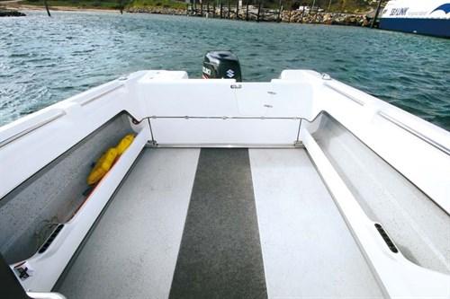 Fishing deck on Northbank 650 hardtop