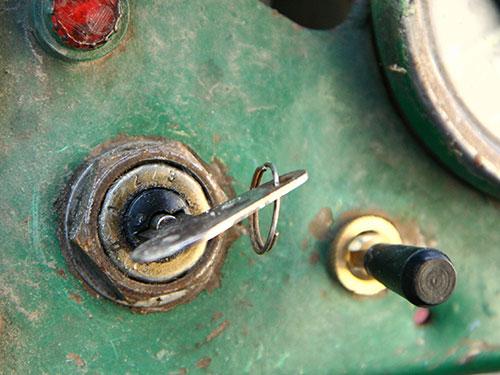 keys in tractor