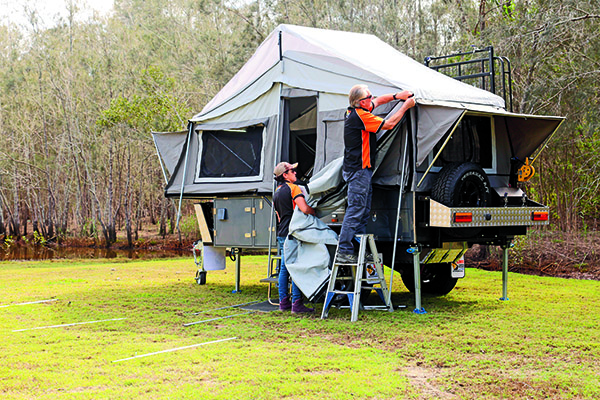 Emu Camper Trailers Desert Series 2 Forward Fold 1