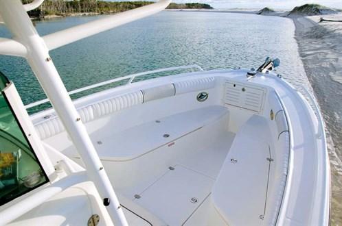 Bow of Mako 284 fishing boat