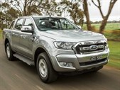 Ford Ranger ute close up
