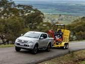 Mitsubishi Triton towing uphill