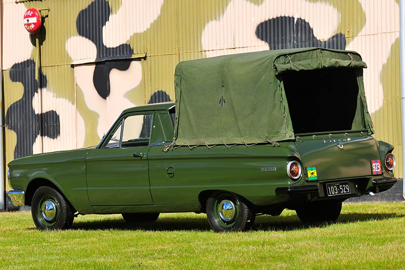 Ford -falcon -xp -army -ute -rear -angle