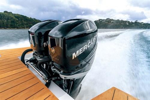 Twin Mercury 350 Verado outboard motor