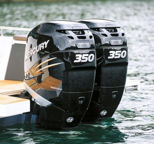 Twin Mercury Verado 350 outboard engines