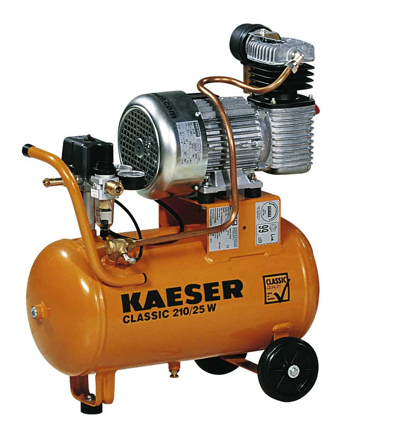Kaeser Classic 210 reciprocating air compressor