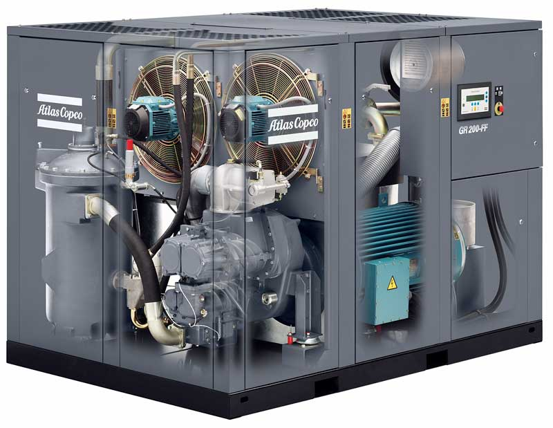 Atlas Copco GR 200-FF rotary screw air compressor