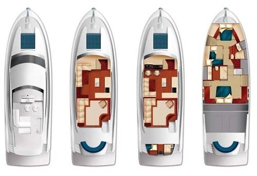Hatteras 60 Motor Yacht deck plans