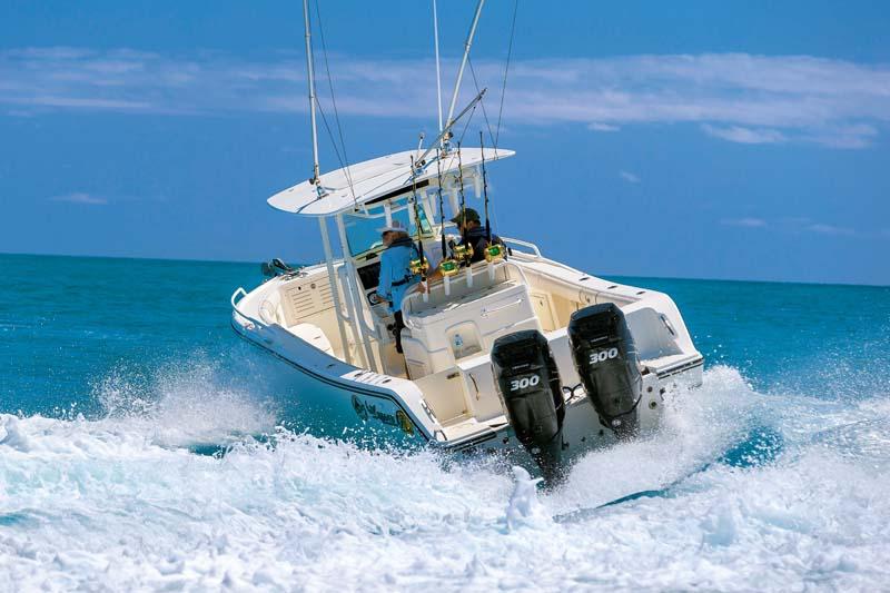 Mako 284Centre Console fishing boat in ation