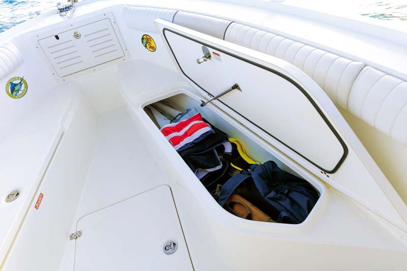 Bow storage of Mako 284 CC boat