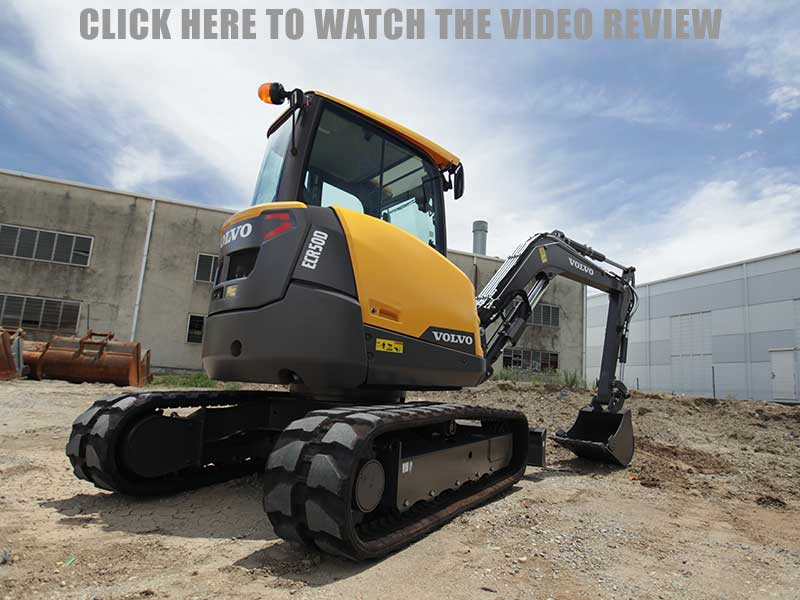 Volvo ECR50D excavator video review