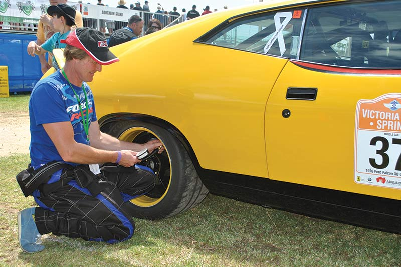 James -Golding -Ford -XB-Falcon -ex -Group -c -tyre -pressures